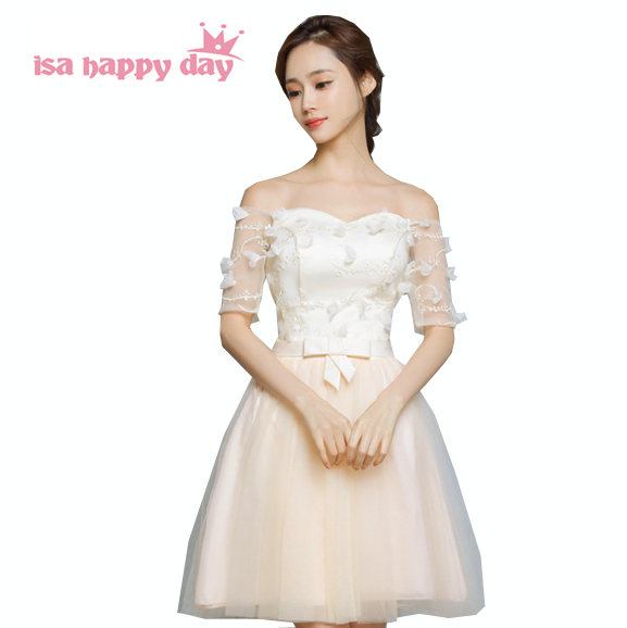 goddess bridmaids faironly brides maid champagne   dresses   boat neck   dress   girls fashion new arrivals for special occasions H3552