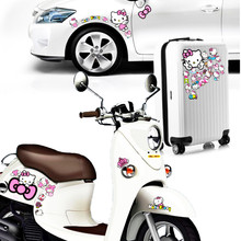 Volkrays Car Decoration Cartoon Hello Kitty Graffiti Sticker Decal for Motorcycle Trolley Case Laptop Mobile Phone Wardrobe Polo(China)