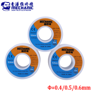 3pcs/lot MECHANIC Rosin Core Solder Wire 0.4mm 0.5mm 0.6mm 55g Soldering Wire Solda Estanho BGA Soldering Station Repair Tools