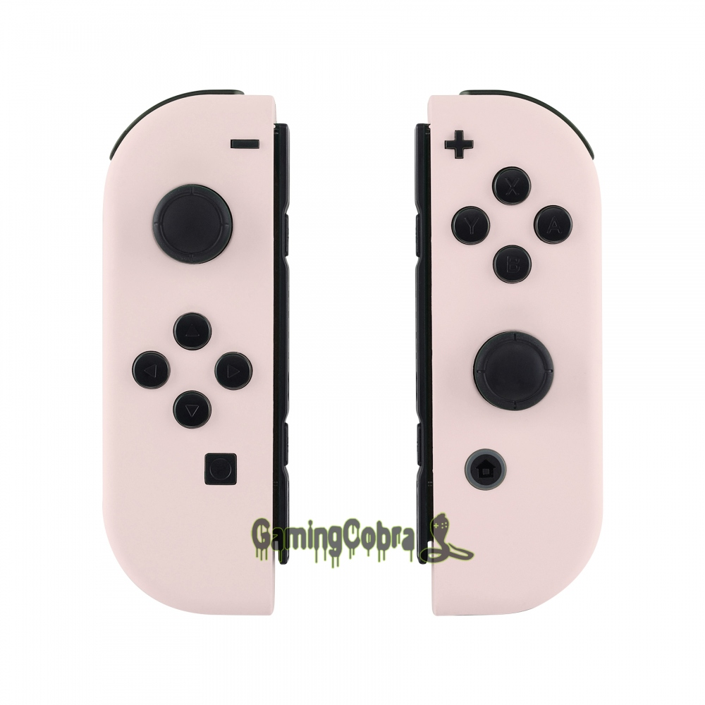 Custom Soft Touch Sakur Pink Controller Housing With Full Set Buttons DIY Replacement Shell Case for Nintendo Switch Joy-Con