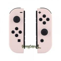 Carcasa de repuesto para mando de Nintendo Switch, carcasa personalizada de tacto suave Sakur, color rosa, Con botones