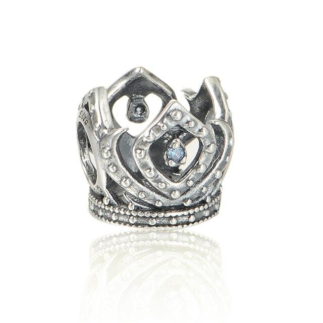 Princess Elsa's Crown Beads Fit Pandora Charms Silver 925 Original Bracelet Disny Crystal DIY Style Beads for Jewelry Making