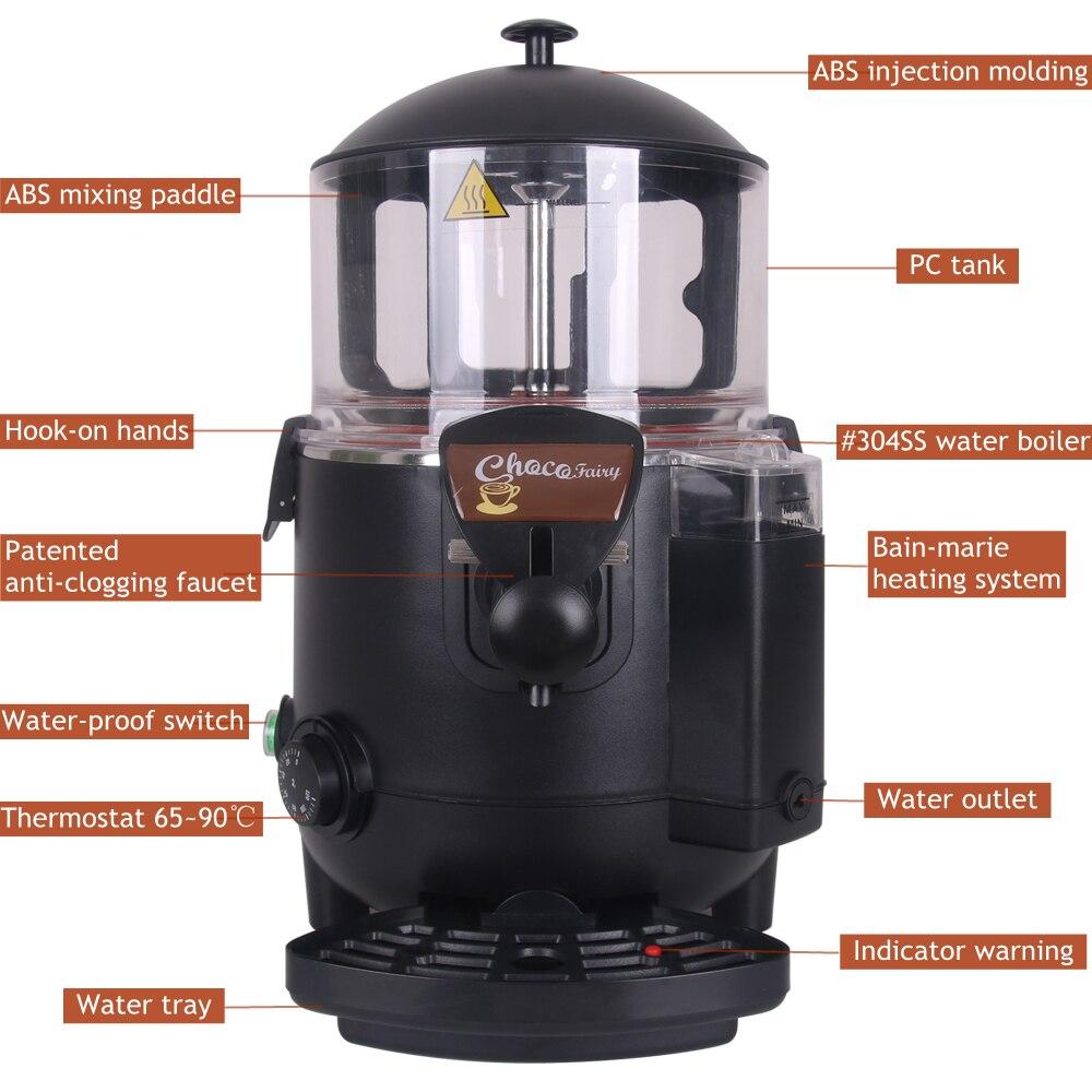 ITOP Italian hot chocolate dispenser machine blender 110V 220V 240V Hot chocolate machine 0-90 degrees Celsius 10L