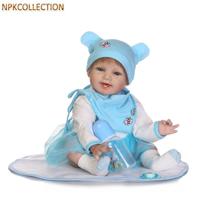 NPKCOLLECTION 50CM Silicone Reborn Dolls Bonecas Baby Reborn Realistic Dolls Babies Soft Doll for Children Gifts Toy Brinquedos 18 inch 42cm reborn babies dolls toys hand crocheted clothes soft silicone realistic handmade baby bonecas reborn brinquedos