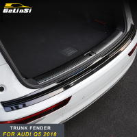 GELINSI Stainless Steel Rear Trunk Pad Fender Car Accessories For Audi Q5 2018Accessories Rear Bumper Foot Plate Auto Car