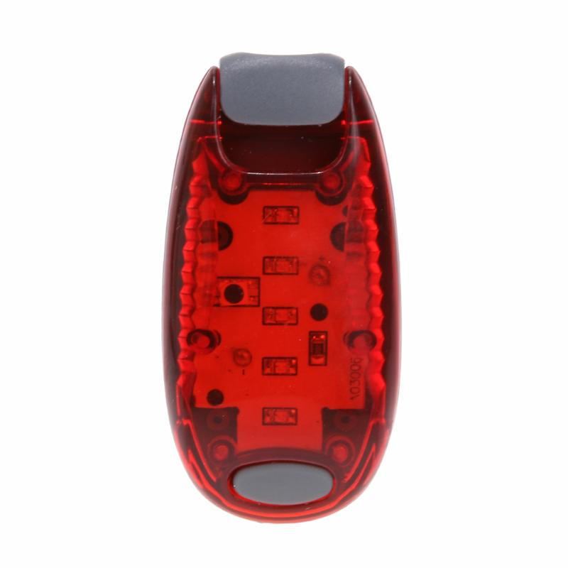 Bike Cycling Lights Waterproof 5 LED Bike Taillight Safety Warning Rear Lamp Backpack Running Lights (Red) Bycicle Accessories
