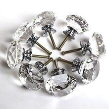 40 мм алмаз граненый ясно хрусталя кабинет ручка шкаф ящика потяните грудь бен ручка