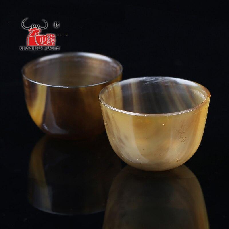 Tibetan yak horn wine cup horn set with horn set bauble.