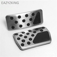 Stainless steel car styling Gas Brake pedal cover AT case For Dodge Journey Durango/For Jeep compass Patriot/For Fiat Freemont