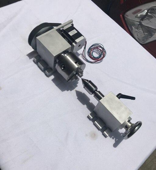 Cnc máquina de grabado eje A 50 chuck + Nema17 motor + dedal grabado ...