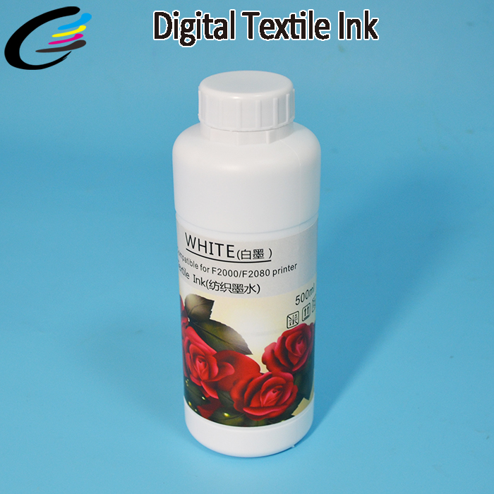 White Textile Pigment DTG Ink for Epson 1390 1400 1410 1430 T-shirt Flatbed Printer