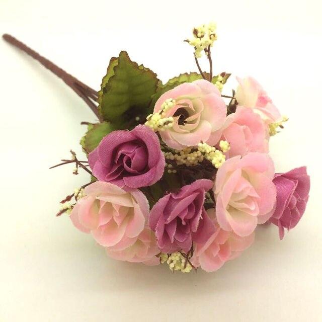 High quality 2017 wholesale hot sale 1 bouquet artificial fake rose high quality 2017 wholesale hot sale 1 bouquet artificial fake rose silk flower pink top sale mightylinksfo