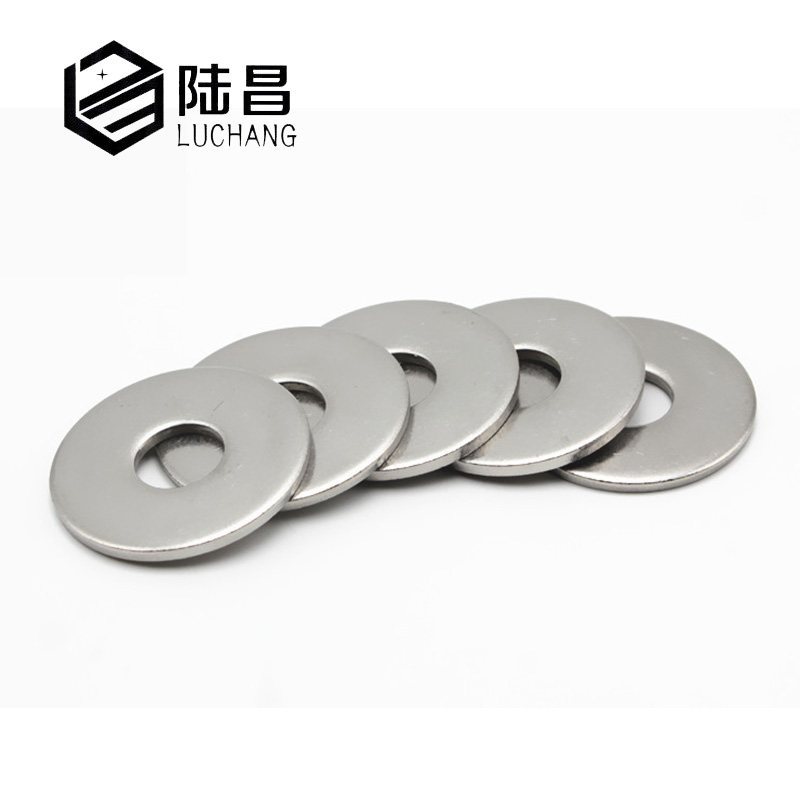 LuChang M3/M4/M5/M6/M8/M10 Large Flat Washer 304 Stainless Steel Big Metal Gasket Meson Plain Washers For Hardware Accessories 50 pieces metric m4 zinc plated steel countersunk washers 4 x 2 x13 8mm