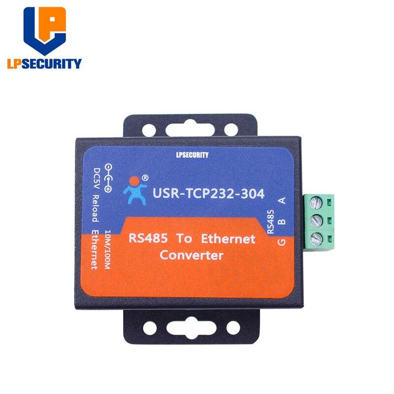 USR-TCP232-304 Module de convertisseur de serveur Ethernet série RS485 vers tcp/ip avec page web DHCP/DNS intégrée avec adaptateur