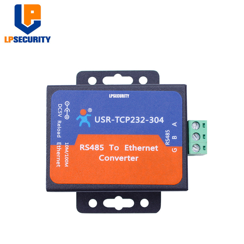 USR-TCP232-304 Serial RS485 To TCP/IP Ethernet Server Converter Module With Built-in Webpage DHCP/DNS With Adaptor