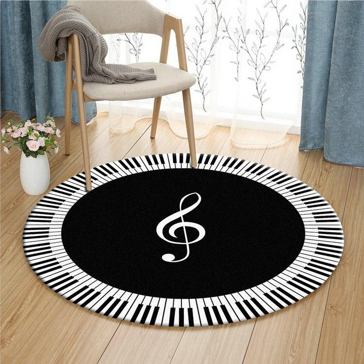 Moderne minimaliste vestiaire noir et blanc Photo tapis rond salon chambre étude ordinateur chaise coussin panier tapis