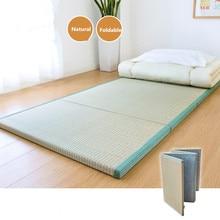 Фотография Folding Japanese Traditional Tatami Mattress Mat Rectangle Large Foldable Floor Straw Mat For Yoga Sleeping Tatami Mat Flooring