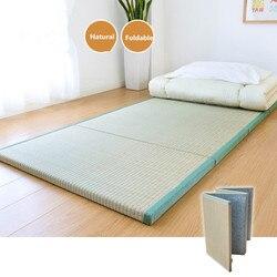 Klapp Japanischen Traditionellen Tatami Matratze Matte Rechteck Große Faltbare Boden Stroh Matte Für Yoga Schlaf Tatami-Matte Bodenbelag