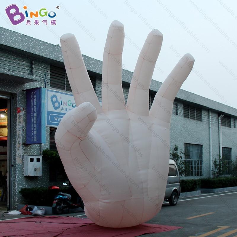 Main gonflable géante personnalisée de 5 mètres de haut/main gonflable de doigt/jouets gonflables de main d'agitation de 16 pieds