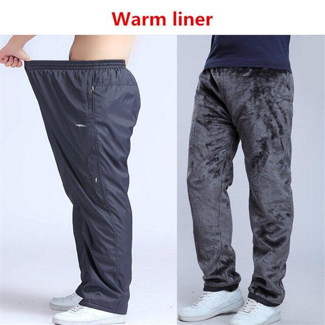6XL 2016 мода Зимние водонепроницаемые повседневные мужские брюки одежда мужчины случайные штаны брюки багги Руно супер теплые брюки мужчины