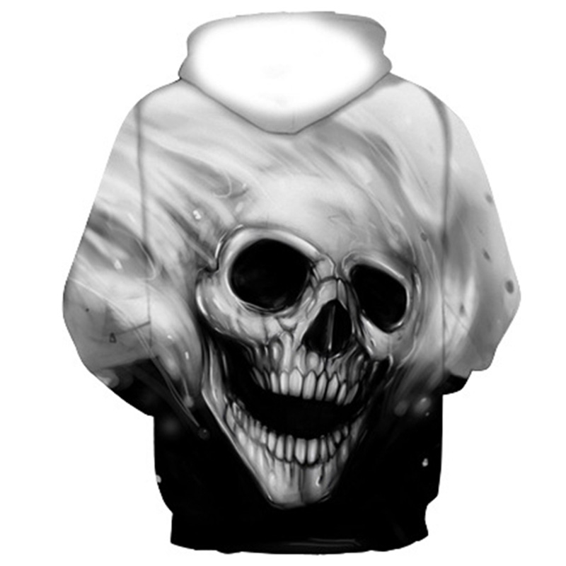 3D Hoodies Men Melted Skull 1