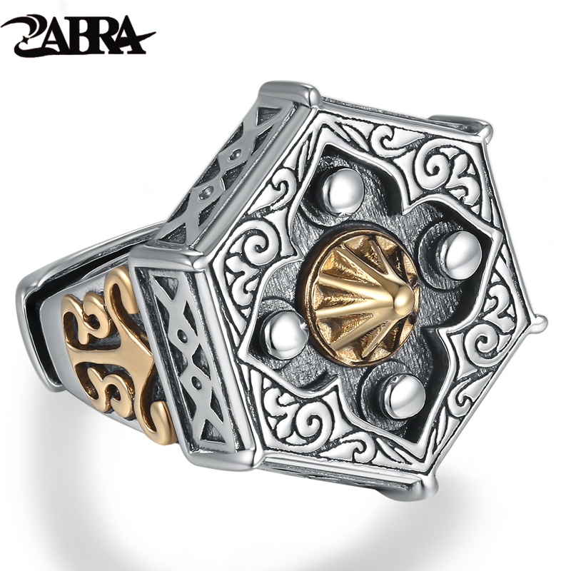 Skills old silversmith 100 925 Silver old nine door with male personality the Buddha ring with