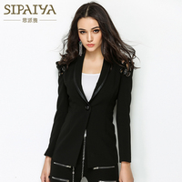 SIPAIYA High Quality New Fashion Ladies Blazer Womens 2017 High Street Style Womens Single Button Blazer
