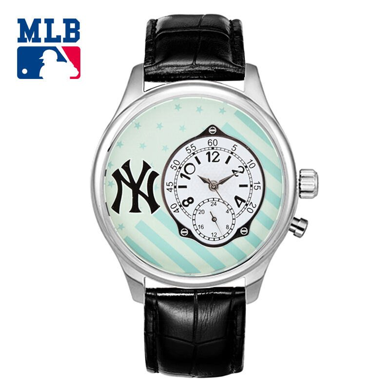 MLB fashion casual leather watchbands multifunctional big dial two eyes men's watches waterproof SD002 генераторы эффектов mlb zl 400b