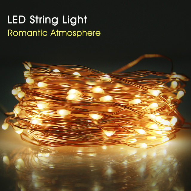 High bright copper wire led string light wedding decoration high bright copper wire led string light wedding decoration outdoor lighting strings 10m waterproof fairy lights mozeypictures Image collections