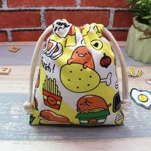 IVYYE 14 or 17CM Stitch gudetama Cartoon Drawstring Bags Canvas Storage Handbags Makeup Bag Coin Bundle Pocket Purse NEW