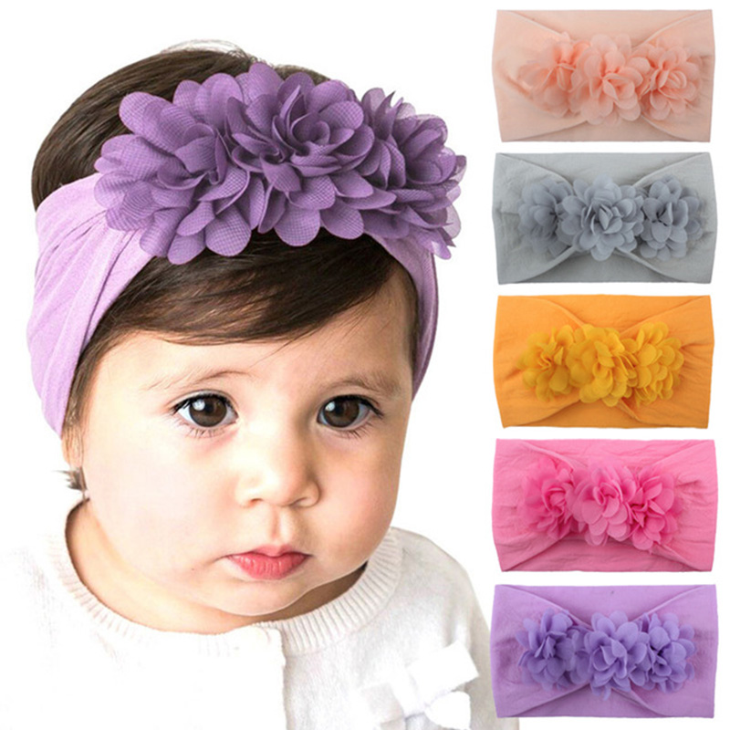 baby hair headbands accessories elastic girl purple leopard purple bow