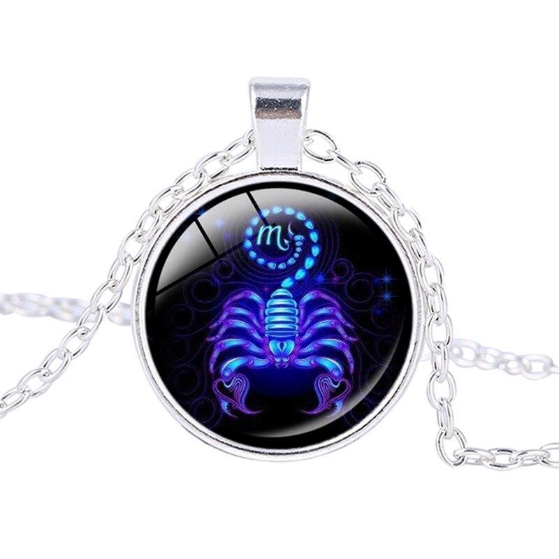 Aliexpress Com Buy 12 Zodiac Signs Constellation: Women Necklace Signs 12 Zodiac Pendant Necklace