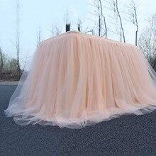 Разноцветная юбка-пачка для стола, Тюлевая ткань для свадебной вечеринки, украшение стола, текстильные скатерти для дома, аксессуары, хит