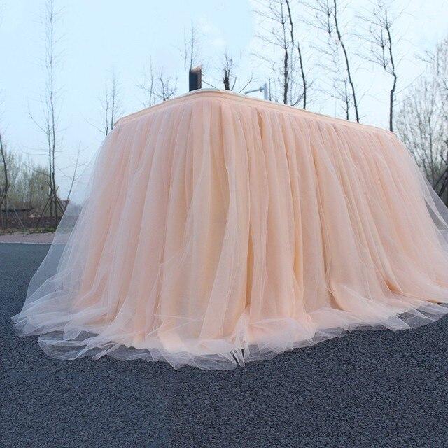 Разноцветная юбка-пачка для стола, Тюлевая ткань для свадебной вечеринки, украшение стола, текстильные скатерти для дома, аксессуары, хит 2019
