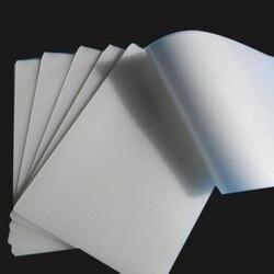 50 pçs/pçs/lote 50 mic a4 filme de estratificação térmica pet para foto/arquivos/cartão/imagem laminação