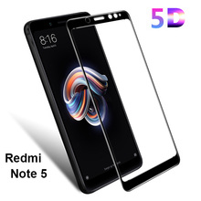 5D Curved Surface 9H Protective Glass Xiaomi Redmi Note 5 / Pro Tempered Screen Protector Full Cover Mi 8