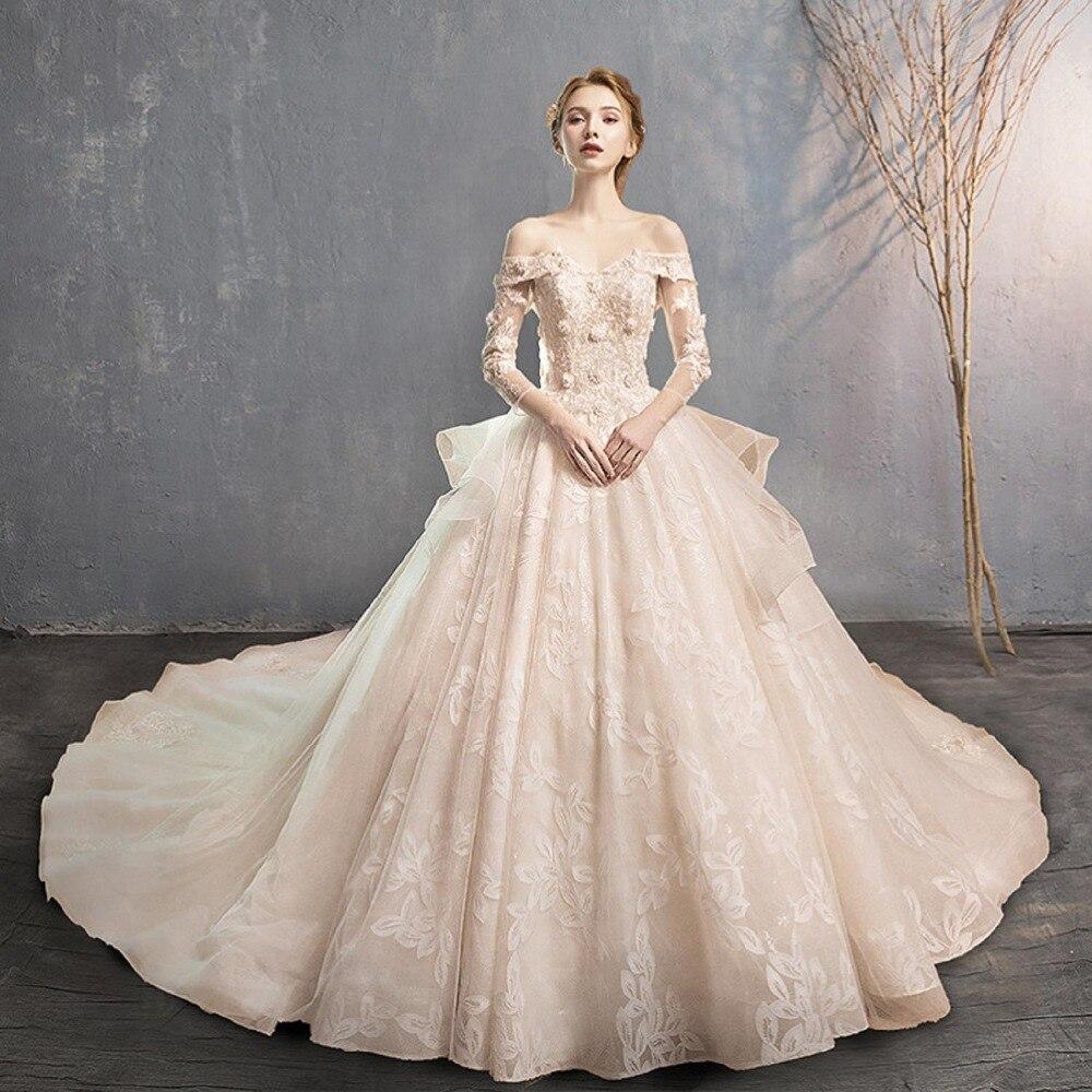 Robe de mariée Sexy Boho longue dos nu blanc plage robe de mariée Appliques dentelle col en v robe de princesse professionnel personnalisé