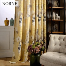 NORNE Modern Curtains for Living Room Bedroom Kitchen Curtains Privacy Assured Floral Window Treatment Curtain Panel Drape