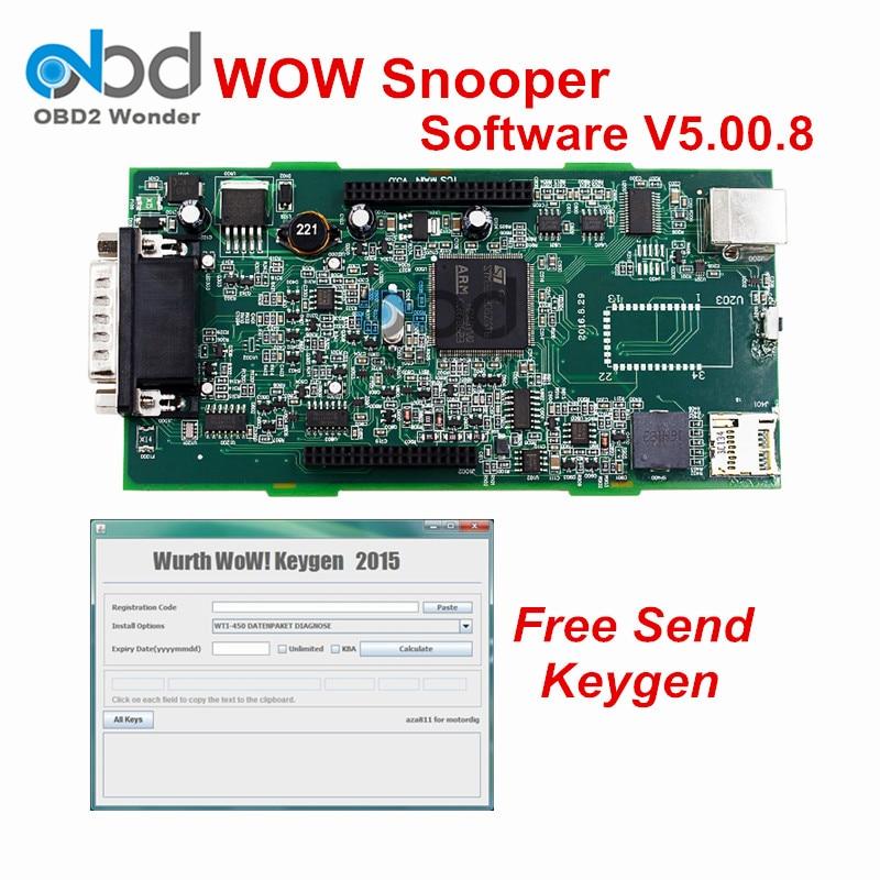 Цена за Лидер продаж WOW snooper OBD2 сканирования V5.008/V5.00.12 диагностики же TCS CDP для грузовых автомобилей бесплатная активировать и DHL Бесплатная доставка