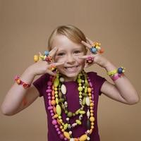 2017 Fragrant Candy DIY Acrylic Bracelet Bead Kit Girl Jewelry Handmade Toys For Children 24 Lattice
