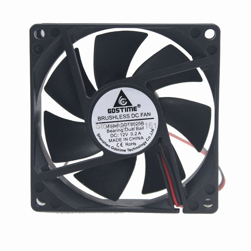 80mm ball fan 12v 1