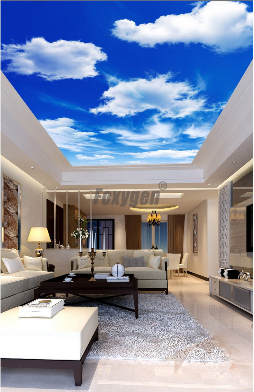 Us 14 0 Nice View Ceiling Film Pvc Stretch Ceiling Film Accessories Pop Ceiling Design For Bedroom In Wallpapers From Home Improvement On Aliexpress