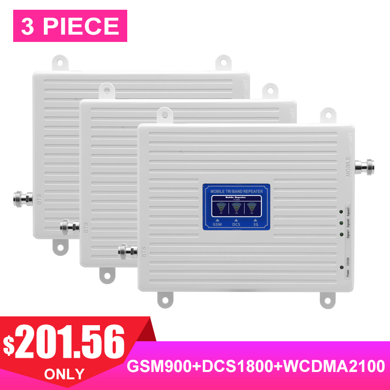 TriBand LTE 4G 3G 2G Cellular Signal Booster FDD GSM DCS WCDMA UMTS 900 1800 2100 Payload Network Signal Amplifier For 3 Pieces#