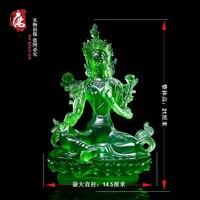 21CM tall # Greco Buddhist HOME Talisman efficacious family Protection # Nepal, Tibet, Bodhisattva Tara(Green) Buddha statue
