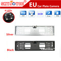 Freeshipping CCD HD rear view camera European license plate frame camera Light LED 170 backup parking rearview car camera