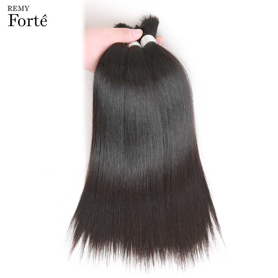 Remy Forte 30 Inch Human Hair Straight Wholesale Lots Bulk Human Braiding Hair Bulk Single Bundle Bulk Human Hair For Braiding
