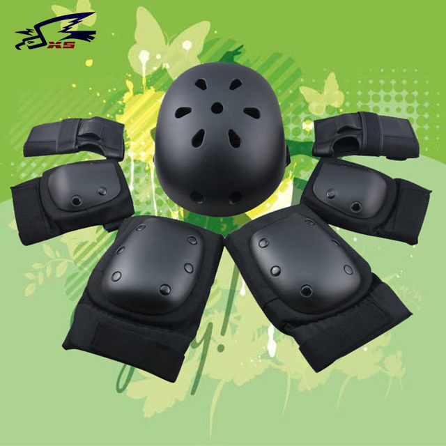 Bicycle Helmets 7 pcs/set Skating Protective Gear Sets Elbow pads Bicycle Skateboard Ice Skating Roller Knee Protector For Adult