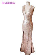 Summer women dress fashion luxury sliver color evening gown deep V backless party sexy formal prom abendkleider 2018