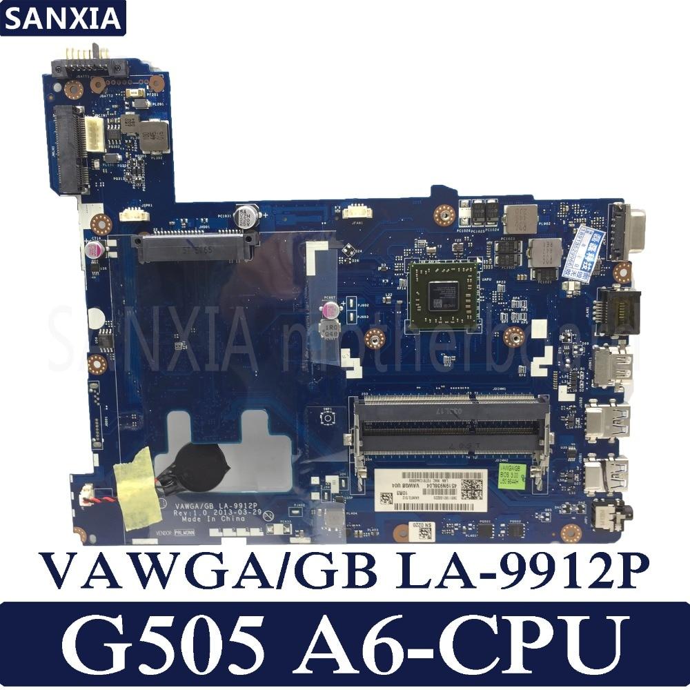 KEFU VAWGA/GB LA-9912P Laptop motherboard for Lenovo G505 Test original mainboard A6 CPU binful super vawga gb la 9912p laptop motherboard suitable for lenovo g505 notebook pc with e1 2100 cpu