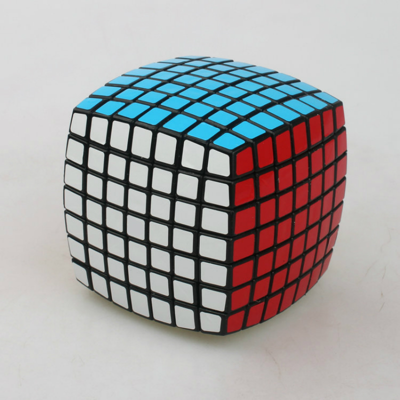 7X7X7 Cubes magiques noirs PVC autocollants pain modèle Cube vitesse professionnel Puzzle Cube pour enfants adulte